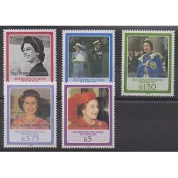 Seychelles Zil Eloigne Sesel - 1987 - No 158/162 - Royauté - Principauté
