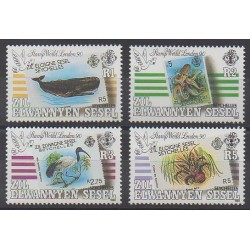 Seychelles Zil Eloigne Sesel - 1990 - No 194/197 - Animaux - Timbres sur timbres