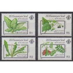 Seychelles Zil Eloigne Sesel - 1989 - Nb 186/189 - Flora
