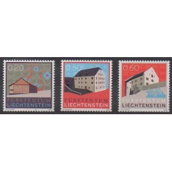 Lienchtentein - 2009 - Nb 1477/1479 - Architecture