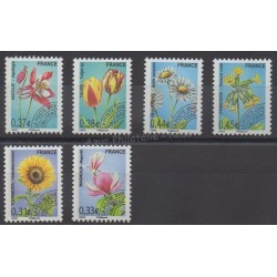 France - Préoblitérés - 2008 - No P253/P258 - Fleurs
