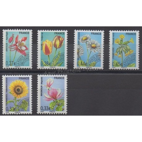 France - Precancels - 2008 - Nb P253/P258 - Flowers