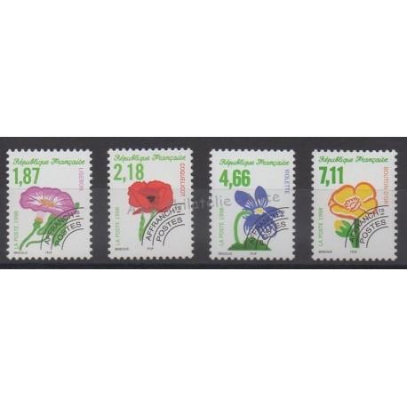 France - Préoblitérés - 1998 - No P240/P243 - Fleurs