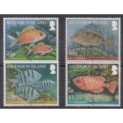 Ascension Island - 2010 - Nb 1000/1003 - Sea animals