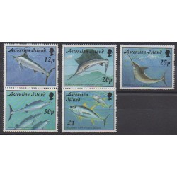 Ascension Island - 1997 - Nb 701/705 - Sea animals