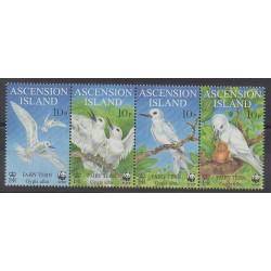 Ascension - 1999 - No 747/750 - Oiseaux - Espèces menacées - WWF