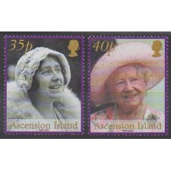 Ascension Island - 2002 - Nb 801/802 - Royalty