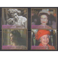 Ascension Island - 2002 - Nb 793/796 - Royalty