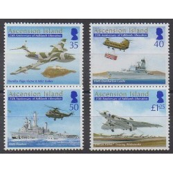 Ascension Island - 2007 - Nb 906/909 - Military history - Helicopters - Planes