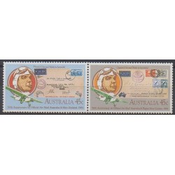 Australie - 1984 - No 848/849 - Aviation - Timbres sur timbres