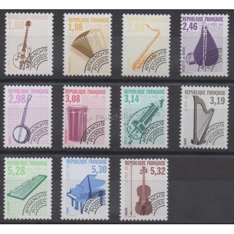 France - Precancels - 1992 - Nb P213A et P214/P223 - Music