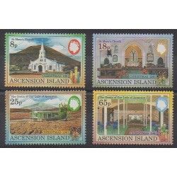 Ascension Island - 1991 - Nb 535/538 - Churches