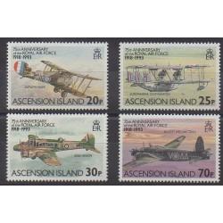 Ascension Island - 1993 - Nb 579/582 - Planes - Military history