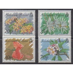 Ascension Island - 1993 - Nb 587/590 - Flowers