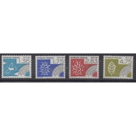 France - Precancels - 1988 - Nb P198/P201