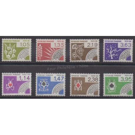 France - Préoblitérés - 1983-1984 - No P178/P185