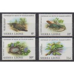 Sierra Leone - 1982 - No 540/543 - Reptiles