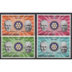 Sierra Leone - 1980 - Nb 440/443 - Rotary or Lions club