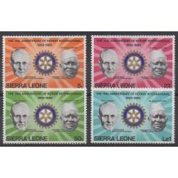 Sierra Leone - 1980 - No 440/443 - Rotary ou Lions club