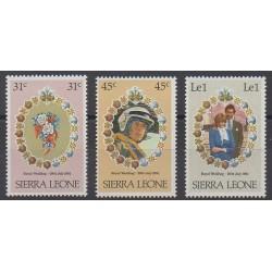 Sierra Leone - 1981 - No 472/474 - Royauté - Principauté