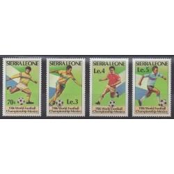 Sierra Leone - 1986 - No 704/707 - Coupe du monde de football