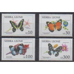 Sierra Leone - 1991 - No 1338/1341 - Insectes