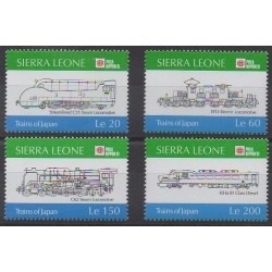 Sierra Leone - 1991 - Nb 1310/1313 - Trains
