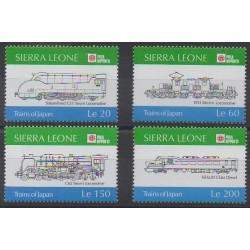 Sierra Leone - 1991 - No 1310/1313 - Chemins de fer