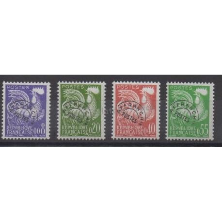 France - Préoblitérés - 1960 - No P119/P122