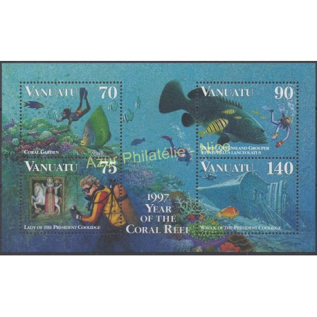 Vanuatu - 1997 - No BF 28 - Poissons