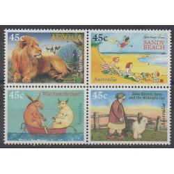 Australie - 1996 - No 1554/1557 - Littérature - Enfance