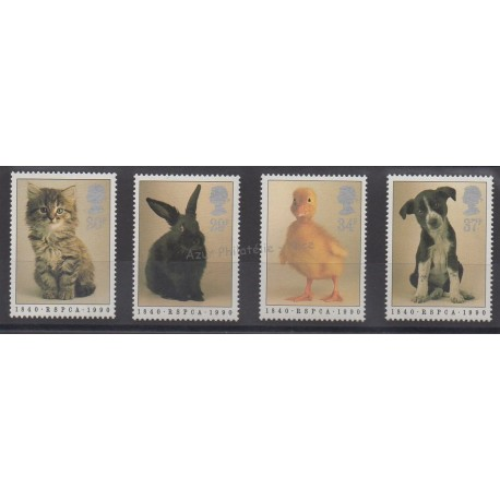 Great Britain - 1990 - Nb 1439/1442 - Dogs