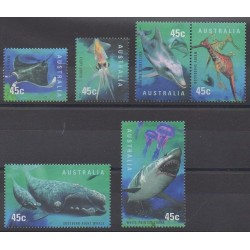 Australia - 1998 - Nb 1710/1715 - Sea animals - Mamals