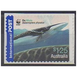 Australie - 2006 - No 2567 - Animaux marins - Mammifères - Espèces menacées - WWF