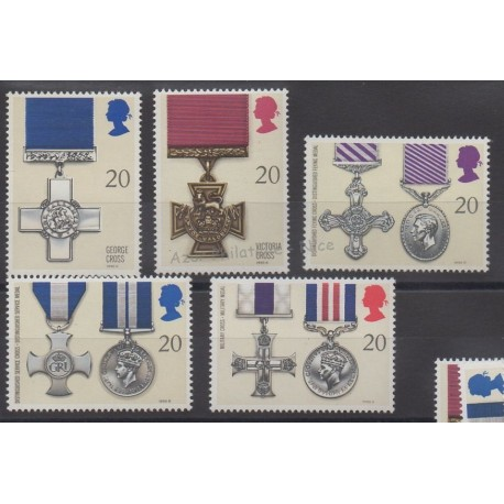 Great Britain - 1990 - Nb 1484/1488 - Coins, banknotes or medals