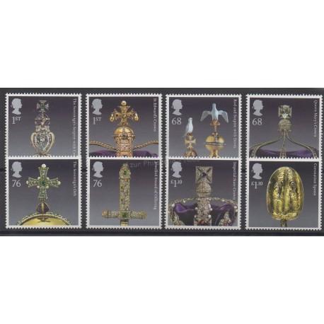 Grande-Bretagne - 2011 - No 3522/3529 - Minéraux - pierres précieuses