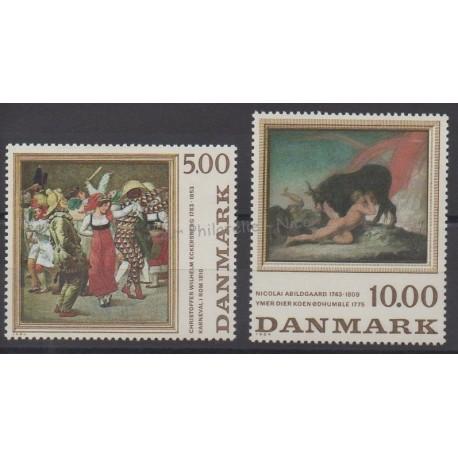 Denmark - 1984 - Nb 822/823 - Painting