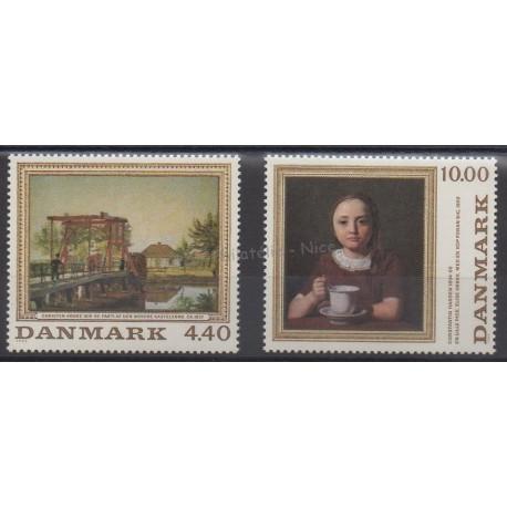 Denmark - 1989 - Nb 964/965 - Painting
