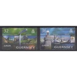 Guernesey - 2004 - No 1011/1012 - Phares - Europa