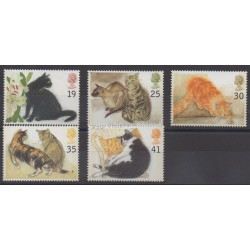 Great Britain - 1995 - Nb 1789/1793 - Cats