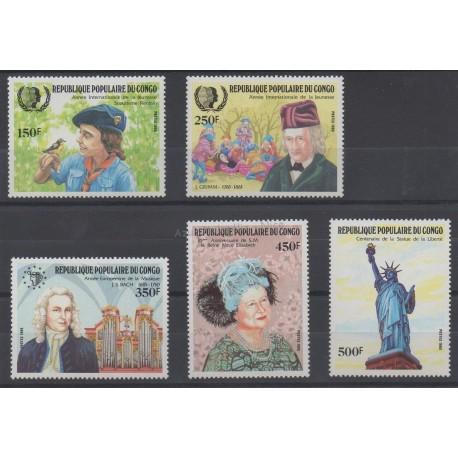 Congo (République du) - 1985 - No 756/760 - Royauté