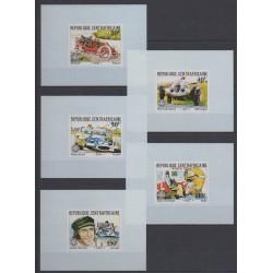 Centrafricaine (République) - 1981 - No 457/461 - Epreuves de luxe - Voitures