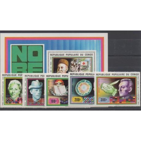 Congo (Republic of) - 1978 - Nb 494/498 et BF 16 - Health