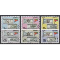 Érythrée - 1999 - No 381/386 - Monnaies, billets ou médailles
