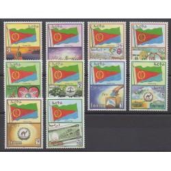 Érythrée - 2000 - No 415/424 - Drapeaux