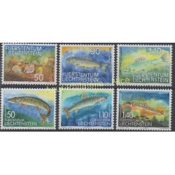 Liechtenstein - 1987 - No 863/865 - 905/907 - Poissons