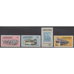 Lesotho - 1972 - No 222/225 - Service postal - Timbres sur timbres