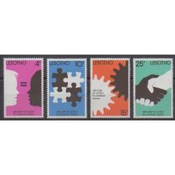 Lesotho - 1977 - No 343/346 - Droits de l'Homme