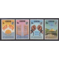 Lesotho - 1976 - Nb 315/318 - Various Historics Themes