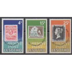 Lesotho - 1979 - Nb 380/382 - Stamps on stamps